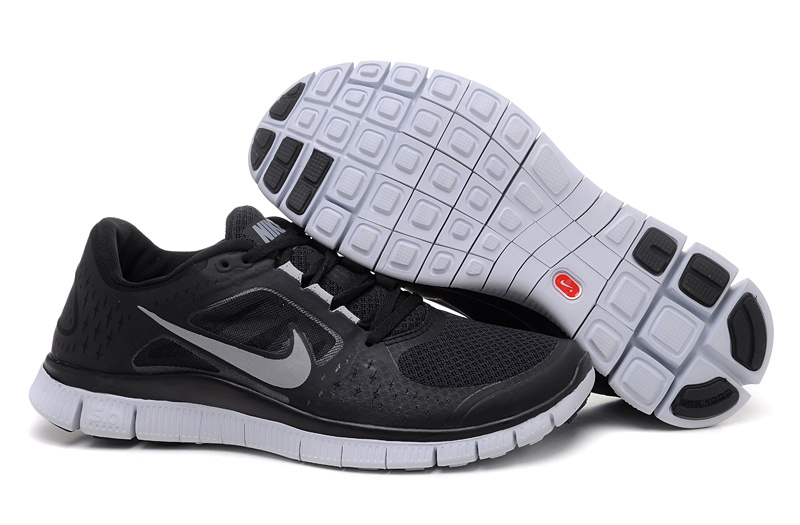 Nike Free Run +3 Homme femme 2016 Chaussures Loup Gris Noir pas cher Nike Free Run +3 Homme