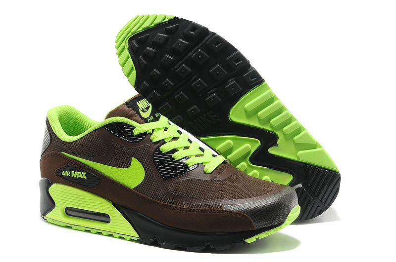Chaussures Nike Air Max 90 vertes homme
