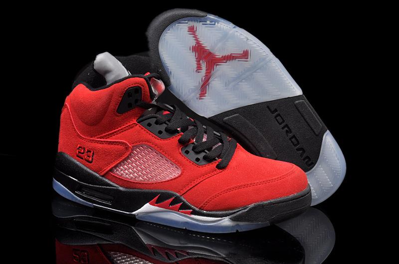 Air Jordan 5 Homme Femme Jordan Nouvelle Chaussure Air Jordan 5 Retro Pas Cher Noir Rouge Homme