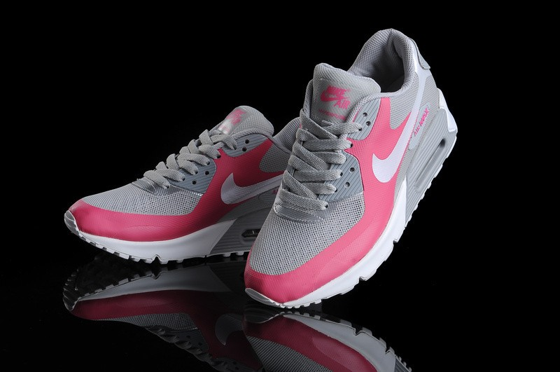Nike Air Max 90 Hyperfuse Premium Chaussures Blanc Argent Rose Gris